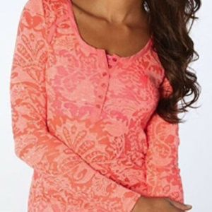 NWT Free People Intimately Burnout Strawberry Top